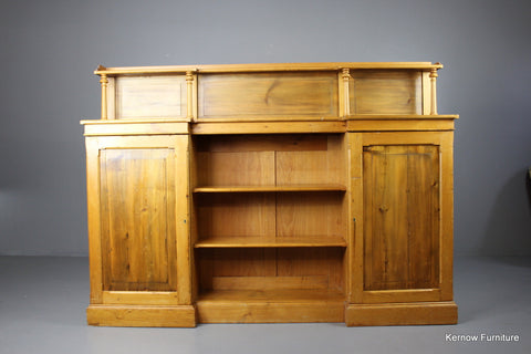 Rustic Pine Breakfront Sideboard - Kernow Furniture 100s vintage, retro & antique items in stock
