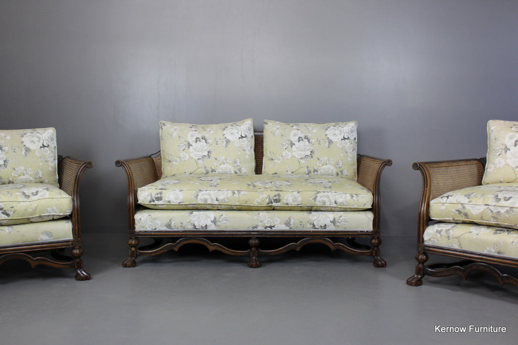 Early 20th Century Bergere Suite - Kernow Furniture 100s vintage, retro & antique items in stock