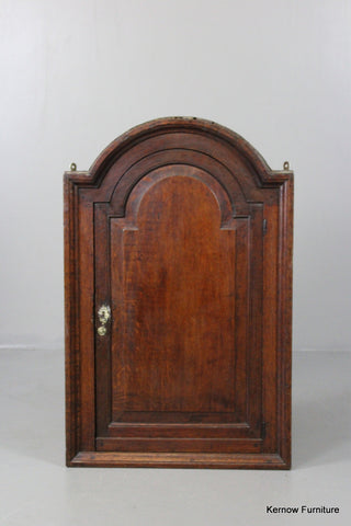 Antique Oak Wall Mounted Corner Cupboard