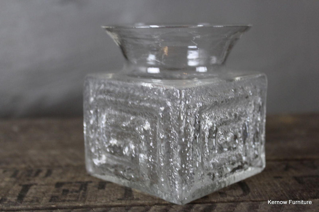 Retro Frank Thrower Dartington Clear Glass Vase - Kernow Furniture