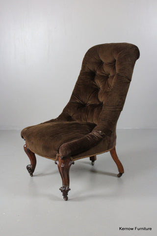 Antique Victorian Button Back Armchair - Kernow Furniture 100s vintage, retro & antique items in stock
