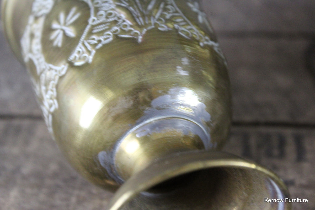 Set 4 Eastern Brass Goblets - Kernow Furniture