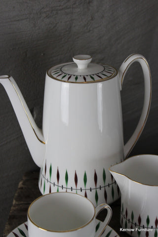 1950's Royal Grafton China Coffee Set - Kernow Furniture 100s vintage, retro & antique items in stock