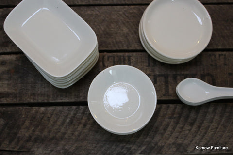 Collection Small White Dishes - Kernow Furniture 100s vintage, retro & antique items in stock