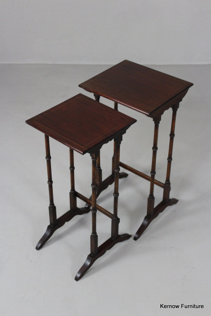 Pair Antiqeu Style Nest Side Tables - Kernow Furniture 100s vintage, retro & antique items in stock