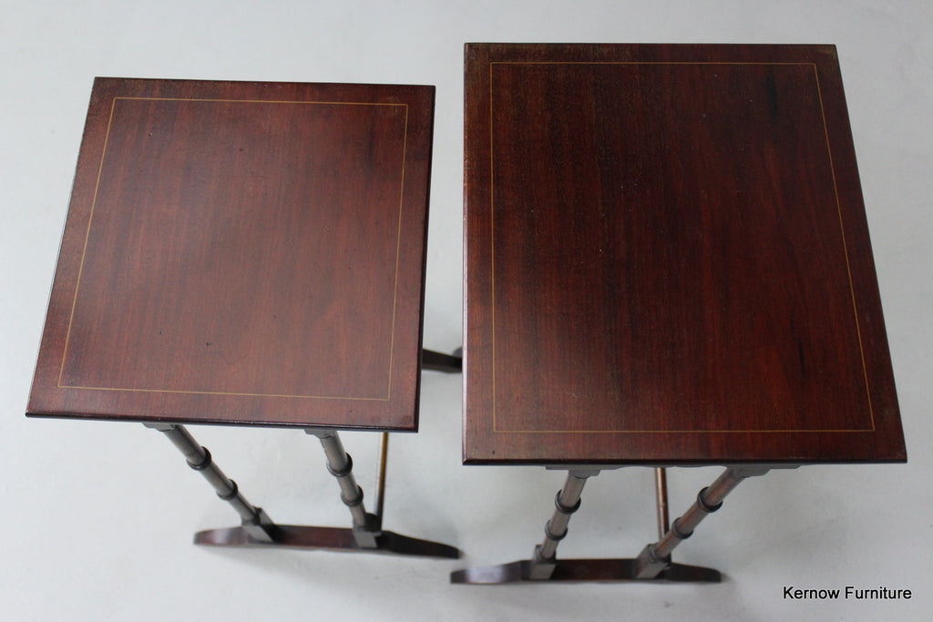Pair Antique Style Nest Side Tables - Kernow Furniture
