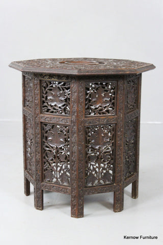 Carved Eastern Side Table - Kernow Furniture 100s vintage, retro & antique items in stock