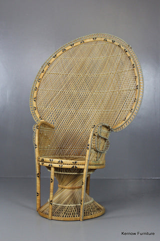 Retro Rattan Peacock Armchair - Kernow Furniture 100s vintage, retro & antique items in stock