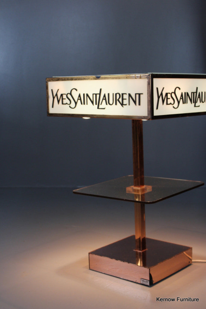 Yves Saint Laurent Shop Display Lamp - Kernow Furniture 100s vintage, retro & antique items in stock