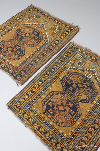 Pair Afghan Prayer Rugs - Kernow Furniture 100s vintage, retro & antique items in stock