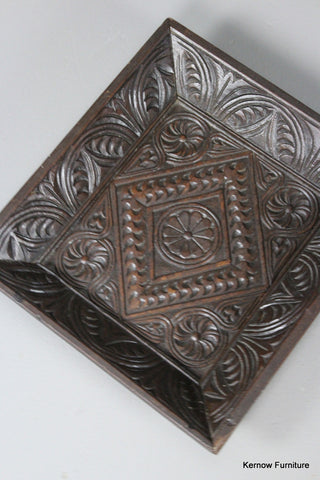 Antique Oak Carved Layette Tray - Kernow Furniture 100s vintage, retro & antique items in stock