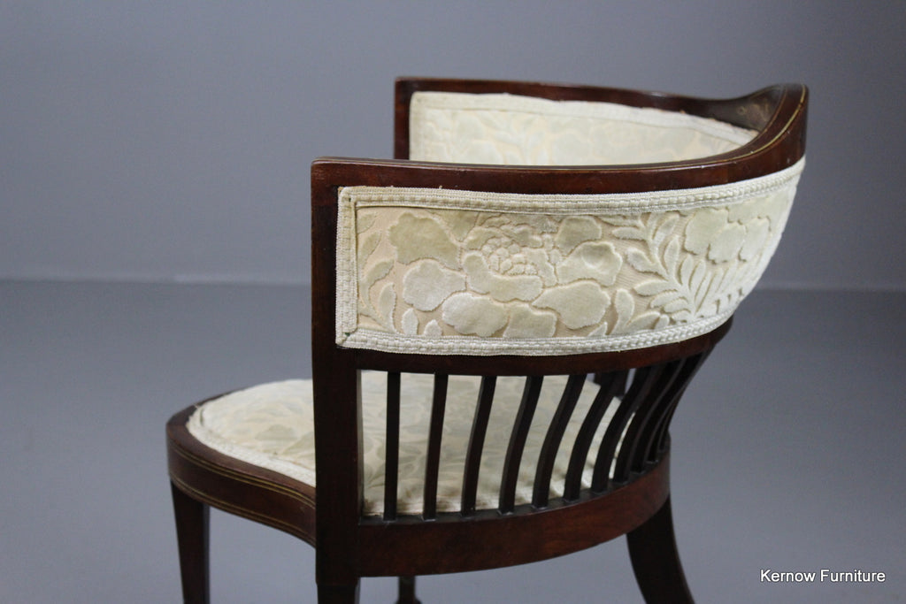 Victorian Upholstered Inlaid Corner Chair - Kernow Furniture