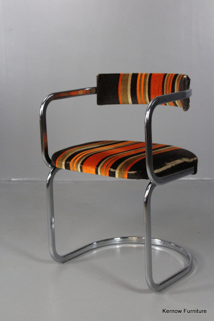 Single Retro Chrome Dining Chair - Kernow Furniture 100s vintage, retro & antique items in stock
