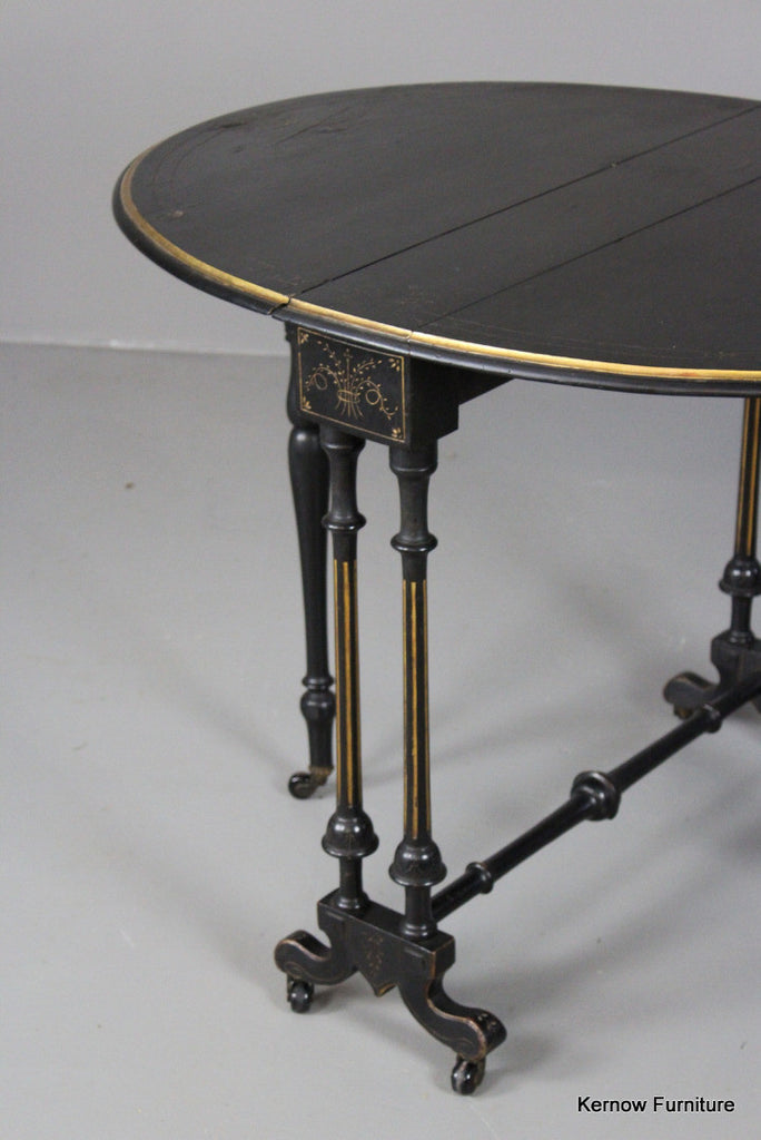 Victorian Aesthetic Movement Drop Leaf Table