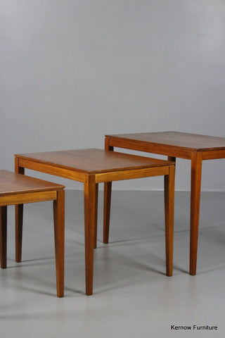 Nest Danish Bent Silberg Mobler Teak Side Tables - Kernow Furniture 100s vintage, retro & antique items in stock