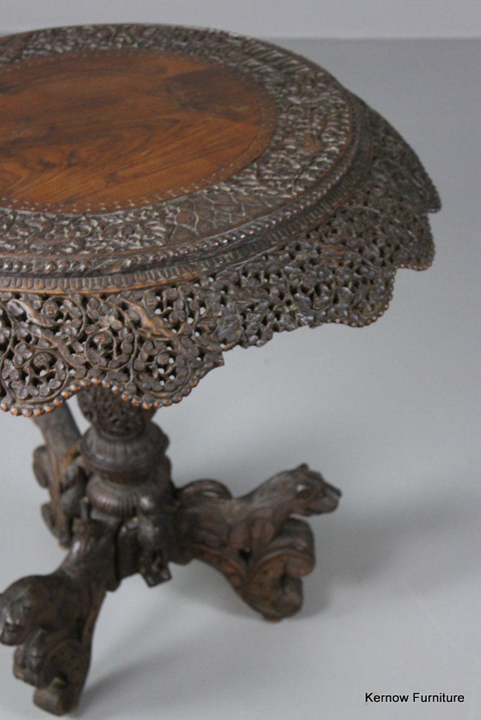 Anglo Indian Teak Centre Table - vintage retro and antique furniture