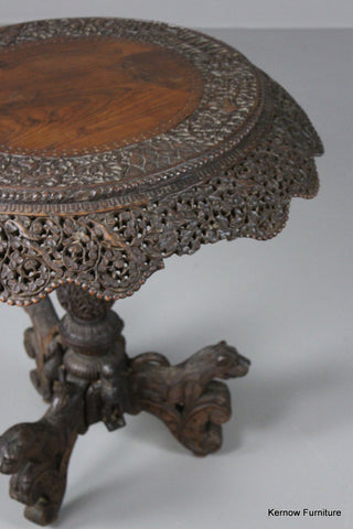 Anglo Indian Teak Centre Table - Kernow Furniture 100s vintage, retro & antique items in stock