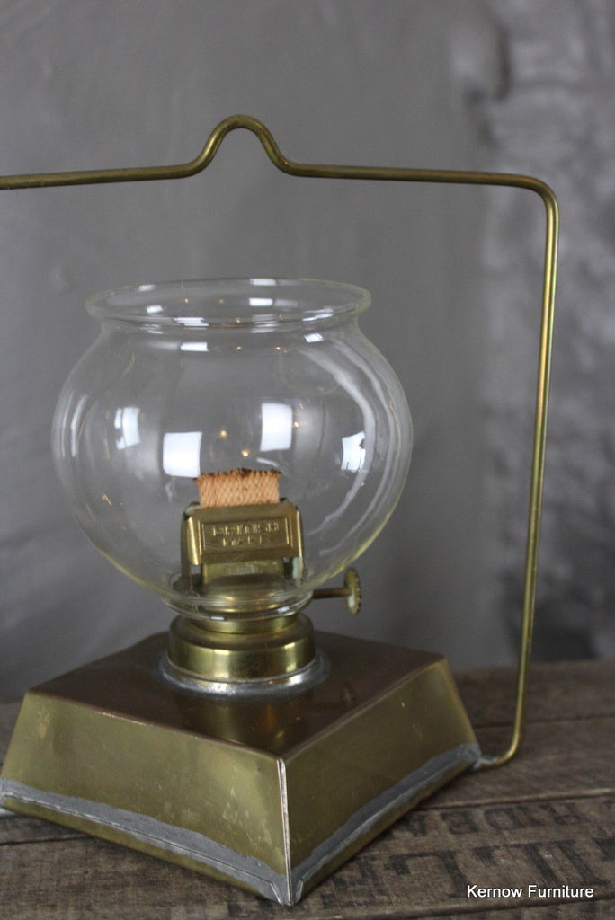 Vintage Brass Paraffin Lantern - Kernow Furniture