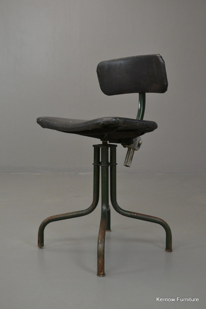Retro Machinist Swivel Chair - Kernow Furniture 100s vintage, retro & antique items in stock