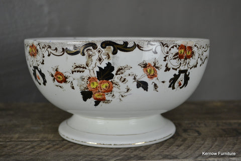 Antique Victorian Centre Piece Fruit Bowl - vintage retro and antique furniture