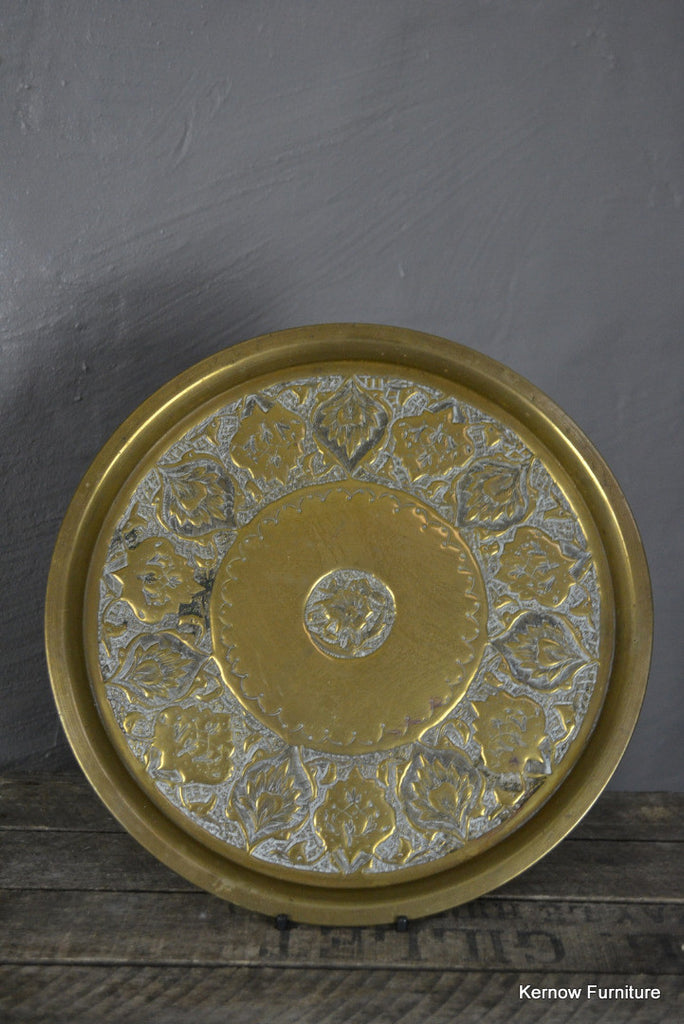 Eastern Brass Tray - Kernow Furniture 100s vintage, retro & antique items in stock