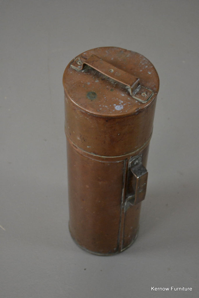 Vintage Copper Canister - Kernow Furniture