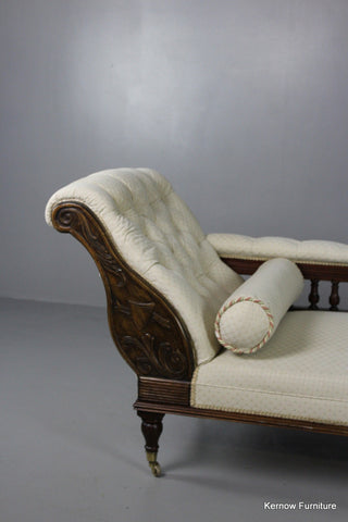 Antique Style Chaise Longue - Kernow Furniture 100s vintage, retro & antique items in stock