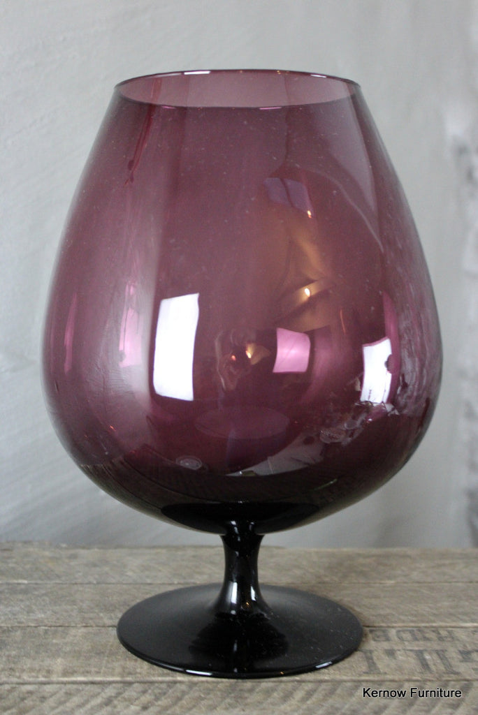Large Purple Balloon Glass - Kernow Furniture