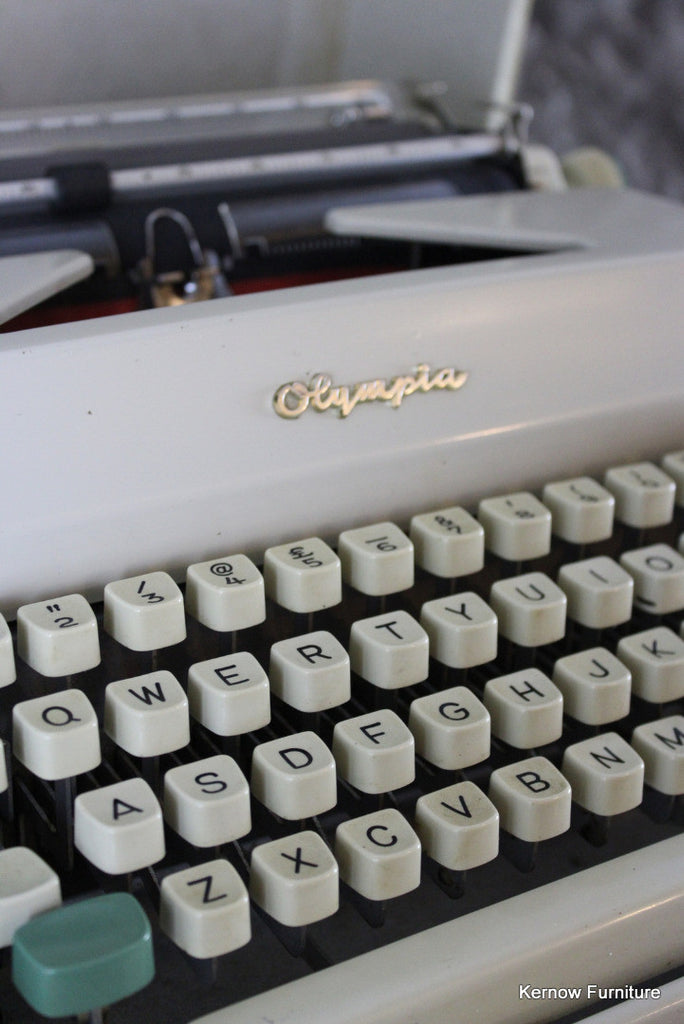 Vintage Olympia Typewriter - Kernow Furniture 100s vintage, retro & antique items in stock
