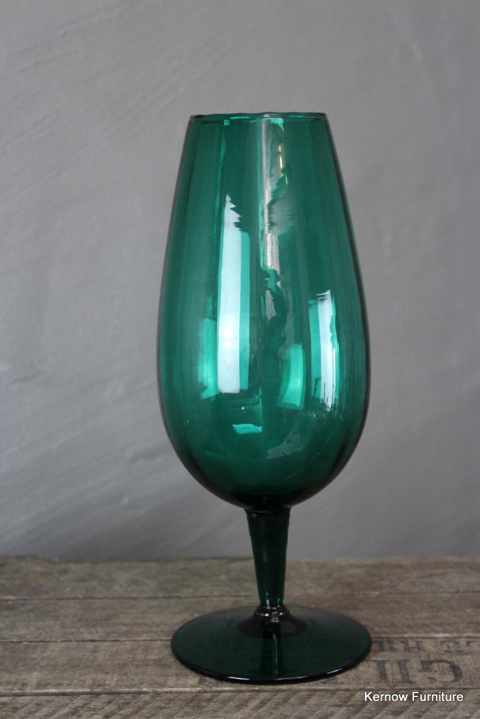 Retro Green Stemmed Glass - Kernow Furniture 100s vintage, retro & antique items in stock