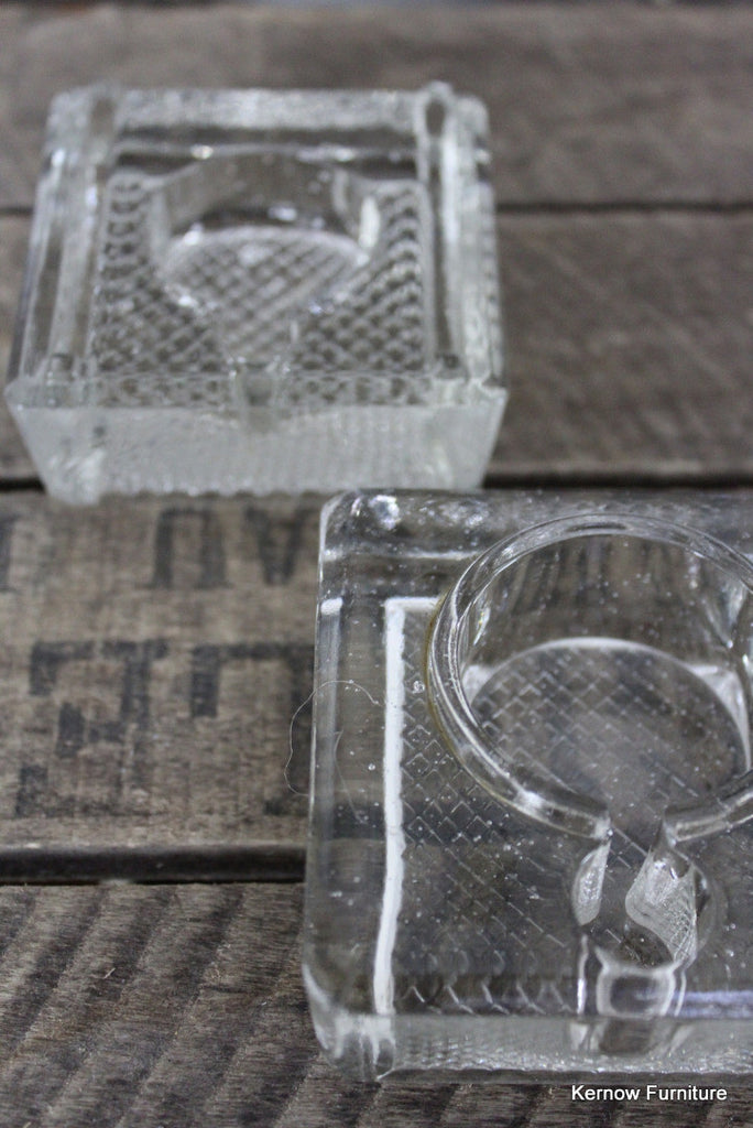 Pair Glass Ink Wells - Kernow Furniture 100s vintage, retro & antique items in stock