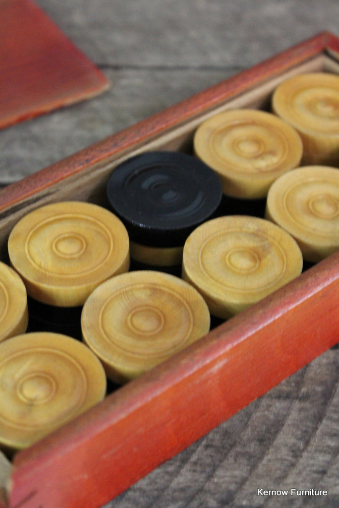 Wooden Boxed Checkers / Draughts