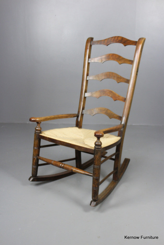 Stained Beech Rocking Chair - Kernow Furniture 100s vintage, retro & antique items in stock