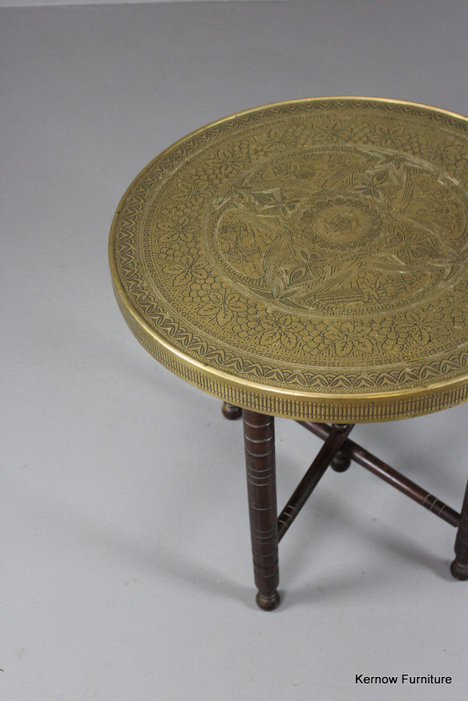 Brass Eastern Coffee Table - Kernow Furniture 100s vintage, retro & antique items in stock