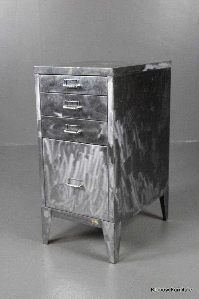 Stripped & Polished Steel Filing Drawers - Kernow Furniture 100s vintage, retro & antique items in stock