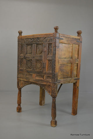 Carved Dowry Chest Dimchiya - Kernow Furniture 100s vintage, retro & antique items in stock