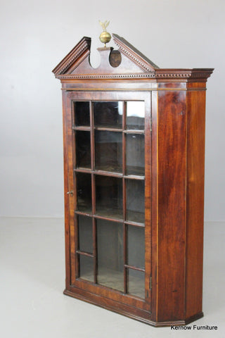 George III Inlaid Mahogany Hanging Cabinet - Kernow Furniture 100s vintage, retro & antique items in stock