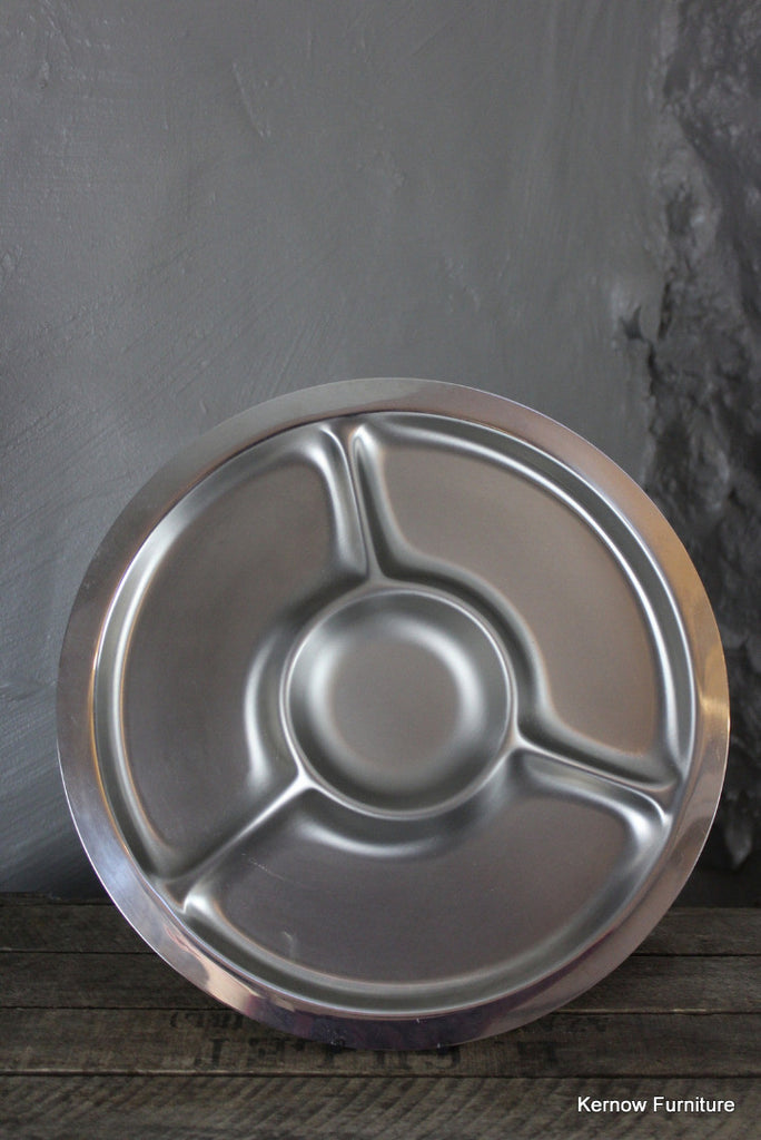 Round Stainless Serving Dish - Kernow Furniture 100s vintage, retro & antique items in stock