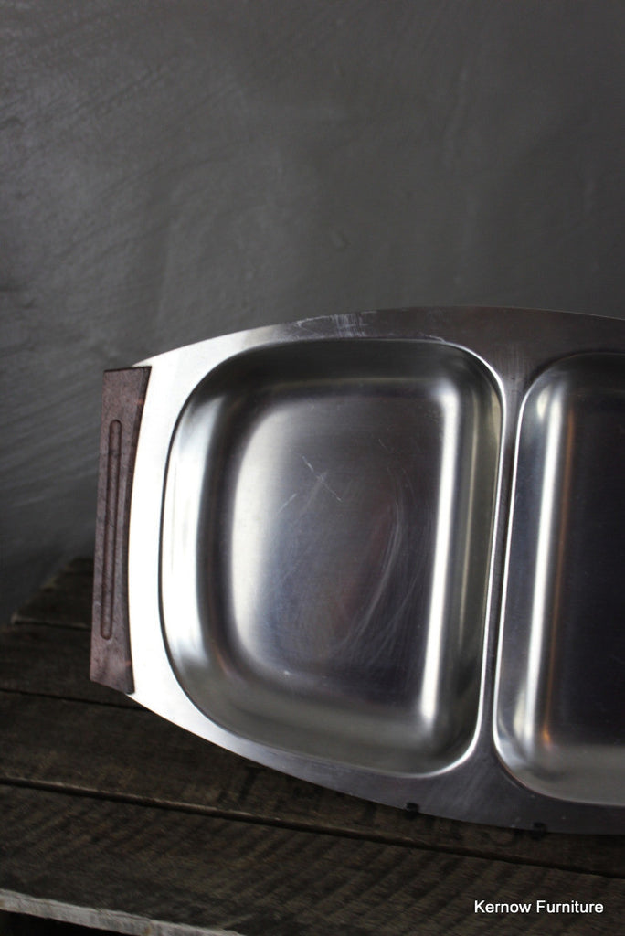 Retro Danish Stainless Serving Dish