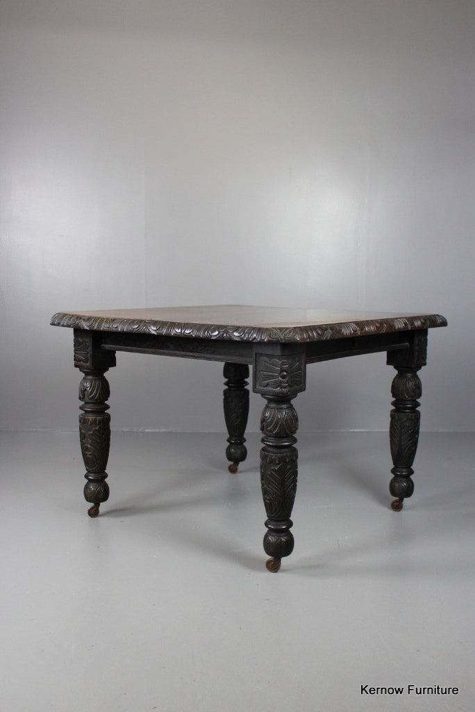 Antique Oak Square Dining Table - Kernow Furniture 100s vintage, retro & antique items in stock