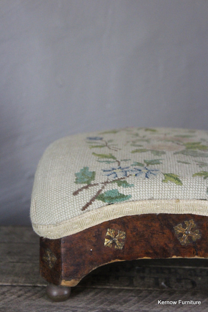Small Antique Footstool - Kernow Furniture 100s vintage, retro & antique items in stock