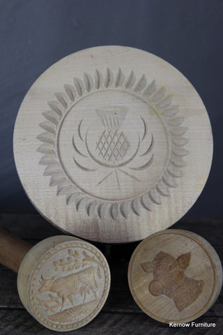 Wooden Butter Stamps - Kernow Furniture 100s vintage, retro & antique items in stock