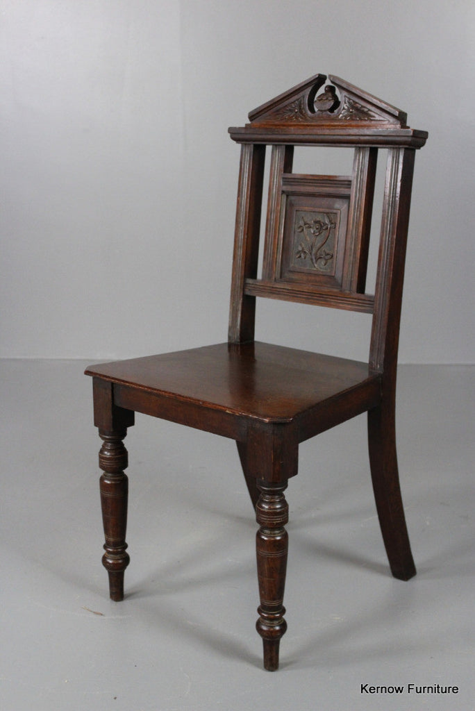 Oak Hall Chair - Kernow Furniture 100s vintage, retro & antique items in stock