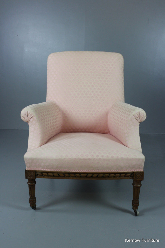 French Upholstered Armchair - Kernow Furniture 100s vintage, retro & antique items in stock
