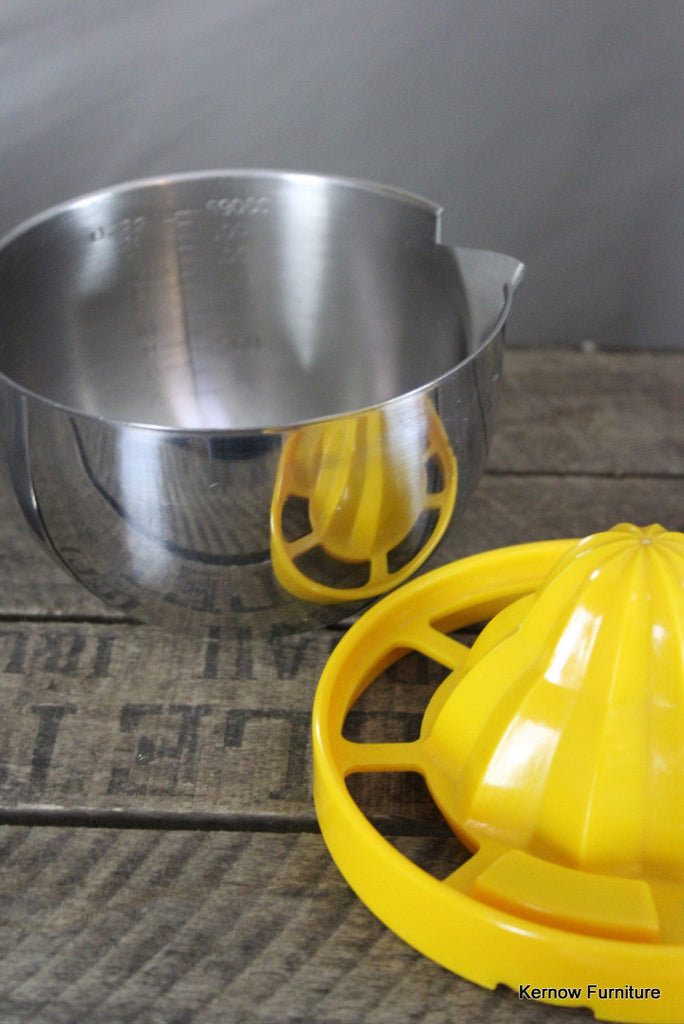 Stainless Lemon Juicer - Kernow Furniture 100s vintage, retro & antique items in stock