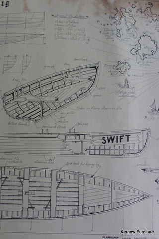 Isle of Scilly Pilot Gig Planaship - Kernow Furniture 100s vintage, retro & antique items in stock