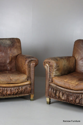 Pair French Armchairs - Kernow Furniture 100s vintage, retro & antique items in stock
