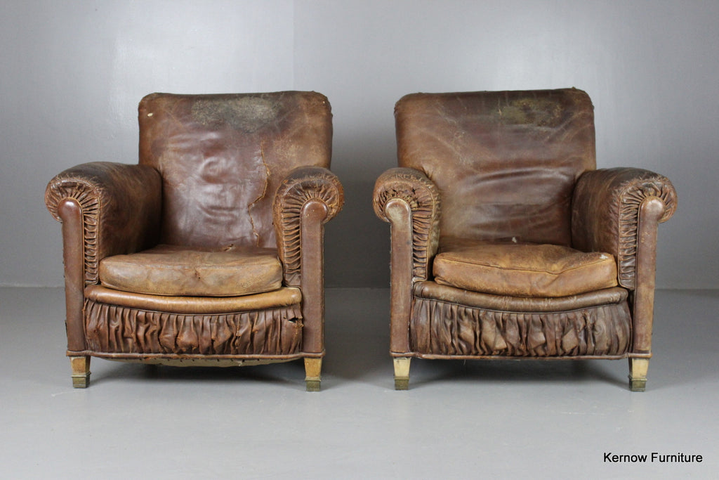 Pair French Armchairs - Kernow Furniture