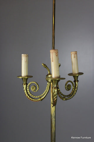 French Brass Standard Lamp - Kernow Furniture 100s vintage, retro & antique items in stock