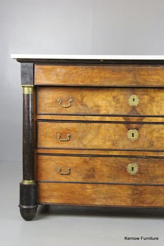 Empire Style Walnut Commode - Kernow Furniture 100s vintage, retro & antique items in stock